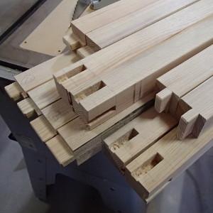 作業台を作製 材料の加工が終了